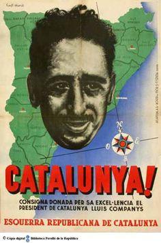 Catalunya : consigna donada per sa excel·lencia el president de Catalunya Lluis Companys :: Cartells del Pavelló de la República (Universitat de Barcelona)
