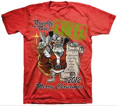 Naughty or Nice Christmas 2012 Red Special T-shirt Marine Corps, Nice, Store, Clothing, Red, Mens Tops, Christmas, T Shirt, Outfits