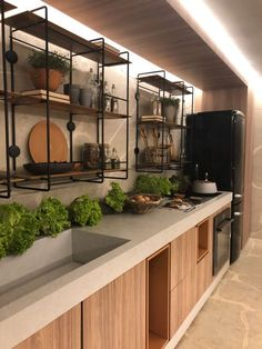 Kitchen decor, kitchen cabinets, kitchen organization, kitchen organizations and of course. The kitchen is the center of the home, so it's important to have a space you love! These pins are my favorite kitchens and kitchen ideas. Corner Sink Kitchen, Kitchen Sink Design, Industrial Kitchen Design, Farmhouse Kitchen Cabinets, Kitchen Countertops, New Kitchen, Kitchen Interior, Kitchen Decor, Kitchen Ideas