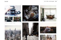 Website | Web design | Rayon - Grid Tumblr Theme by ajufbox on @creativemarket