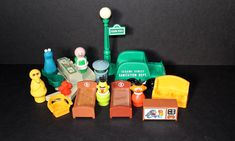 SOLD Fisher Price Little People Sesame Street Apartments Accessories and Characters #938 by SmilingMemories on Etsy