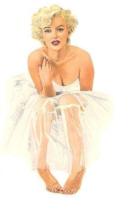 Marilyn Monroe portrait, artist unknown #MarilynMonroe #Art