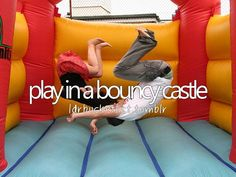 MAKE sure to get a Bouncy Castle! Great activity for the kids. Can even add it as part of Leland's Birthday gift :)