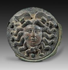 Roundel with Gorgon´s head, Roman Imperial Period, century CE Ancient Rome, Ancient History, Medusa Gorgon, Museum Studies, Roman History, Roman Art, Religion, Sacred Art, Ancient Artifacts