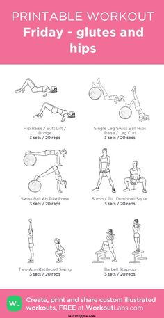 Friday - glutes and hips: my visual workout created at Body Fitness, Planet Fitness, Physical Fitness, Health Fitness, Pilates Workout, Butt Workout, Workout Men, Friday Workout, Fitness Studio Training