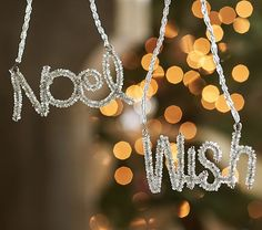 Beaded Word Ornaments | Pottery Barn Kids