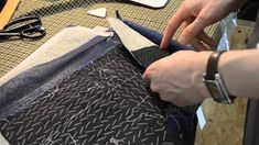 Handcraft Tailor Rory Duffy demonstrates the second part to shaping the front edges.