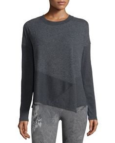 I0NMD Alo Yoga Lean Long-Sleeve Sport Top