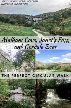 Malham Cove, Janet's Foss, and Gordale Scar - Yorkshire's perfect circular walk. Yorkshire Dales, Yorkshire England, North Yorkshire, Beautiful Places To Visit, Places To See, Highlands Scotland, Skye Scotland, Oxford England, London England