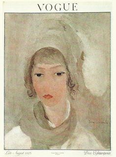 Vogue magazine cover 1923 by Marie Laurencin Lady Portrait Fashion Illustration… Vogue Vintage, Vintage Vogue Covers, Tour Eiffel, Vogue Magazine Covers, Poster Art, Fashion Cover, Vintage Magazines, Antique Prints, Art Plastique
