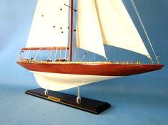 America's Cup Lionheart  Wooden J Class Yacht Model
