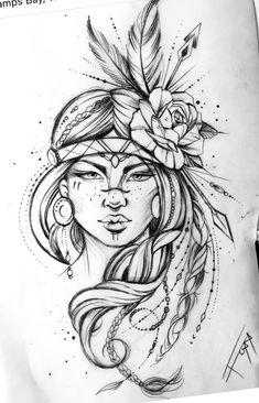 Tattoo Design Drawings, Tattoo Sketches, Tattoo Designs, Dope Tattoos For Women, Leg Tattoos Women, Cute Tattoos, Body Art Tattoos, Sleeve Tattoos, Indian Girl Tattoos
