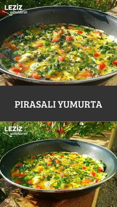 Pırasalı Yumurta – Leziz Yemeklerim – Kahvaltılıklar – Las recetas más prácticas y fáciles Fun Easy Recipes, Easy Meals, Meat Recipes, Vegetarian Recipes, Burger Recipes, Turkish Recipes, Ethnic Recipes, Healthy Snacks, Pasta