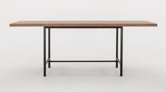 Table personnalisable pour salle à manger Kendall - 82 po - teck recyclé   EQ3 Modern Furniture