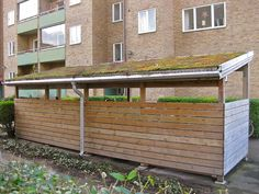 Green Roof for Vehicles by hansn, via Flickr. (modern bike shed idea)