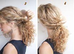 Exemple coiffure cheveux longs bouclés facile