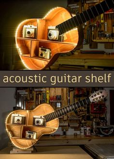 How to turn a damaged acoustic guitar to a beautiful shelf with almost hidden led lighting. An easy DIY project for everyone and you can build it only with the basic tools.