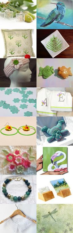Shades of Green -  Christa's Lucky Game by Katinka B. on Etsy--Pinned with TreasuryPin.com