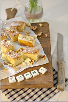 Bake a wish: Cremige Blondies & Hallo 2015