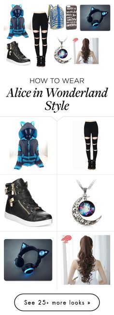 """Blue is Cool"" by marcythewolf on Polyvore featuring Bebe, JFR and Pin Show"