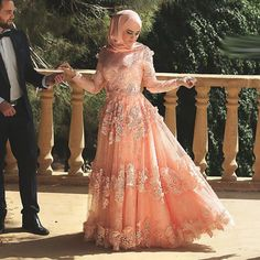 Arabic Muslim Sexy Long Sleeve Applique Lace hijab Evening Dresses 2016 Long  Formal Gowns-in Evening Dresses from Weddings   Events on Aliexpress.com ... bb11ce9ded0c