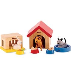 For Clara's dollhouse - family pet set from HearthSong $14.98