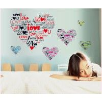 I love you hearts decal. Wall stickers are available at www.kidzdecor.co.za. Free postage throughout South Africa