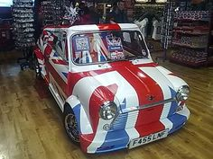 Union Jack Mini in Cool Britannia store #UK I want to drive this as my wedding get away car :)
