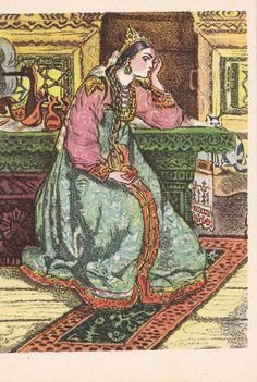 Jahrgang Illustration von T. Mawrina A. von RussianSoulVintage
