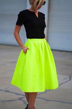 Neon midi skirts - My Fash Avenue