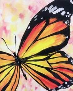 Find the perfect thing to do tonight by joining us for a Paint Nite in Arnold, MD, featuring fresh paintings to be enjoyed over even fresher cocktails! Butterfly Painting Easy, Bee Painting, Spring Painting, Butterfly Art, Acrylic Painting Canvas, Butterflies, Art Papillon, Diy Canvas Art, Painting Inspiration