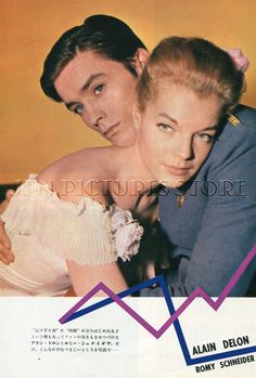 "Alain Delon Romy Schneider 1962 Vintage JPN Picture clipping 7x10"" KC O | eBay"