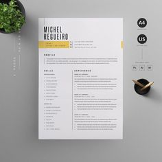 Resume/CV by Reuix Studio on If you like this cv template. Check others on my CV template board :) Thanks for sharing!Resume/CV by Reuix Studio on Basic Resume, Simple Resume, Resume Cv, Professional Resume, Visual Resume, Resume Layout, Resume Words, Graphic Design Resume, Letterhead Design
