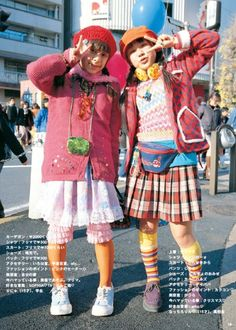 Back-to-School Street Fashion Japan Street Fashion, Tokyo Street Style, Tokyo Fashion, Harajuku Fashion, 90s Fashion, Harajuku Girls, Fashion Styles, Edgy Outfits, Pretty Outfits
