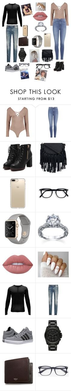 """""""a family party with your boyfriend ashton irwin🖤"""" by briannacliffs ❤ liked on Polyvore featuring Boohoo, Paige Denim, Speck, Lime Crime, Spyder, Maison Margiela, adidas, Michael Kors, Mulberry and Incase"""