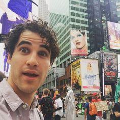 "Darren Criss on Instagram: ""Photobombin' myself. @HedwigOnBway"""