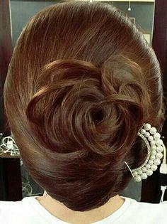 Creative Hairstyles, Elegant Hairstyles, Bun Hairstyles, Wedding Hairstyles, Bridal Hair Buns, Kimono Fashion, Hair Dos, Hair Hacks, Short Hair Styles