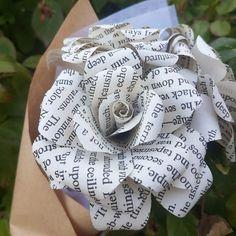 Edgar Allan Poe Book Bouquet by Novel Hearts