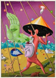 Interesni Kazki Le Kraken, Illustration Arte, Graffiti, Arte Alien, Psychedelic Drawings, Arte Cyberpunk, Psy Art, Surrealism Painting, Funky Art