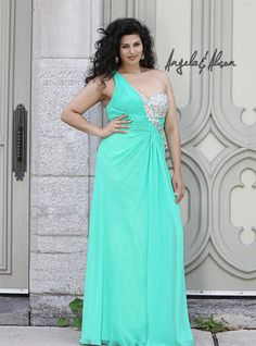 Angela and Alison Plus Size Prom - 41098W
