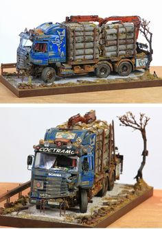Scania Timber Truck 1/48 Scale Model