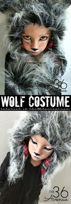 Halloween Costumes - This Wolf Costume is supers cute, comfortable and perfect for kids and adults. You can do this DIY Wolf Makeup with items that you Costume Halloween, Image Halloween, Halloween Kids, Halloween Makeup, Halloween Crafts, Werewolf Costume Diy, Couple Halloween, Halloween Halloween, Kostüm Wolf Kind