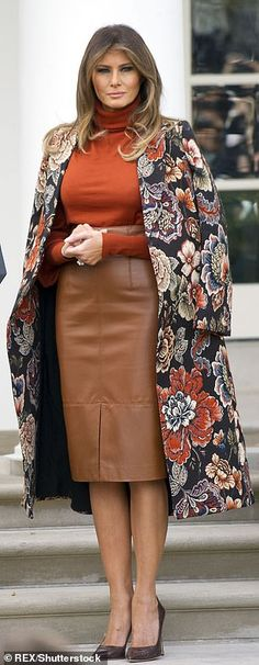 Work Fashion, Fashion Outfits, Womens Fashion, Milania Trump Style, Classy Outfits, Cute Outfits, Dame Chic, First Lady Melania Trump, Melania Trump Dress