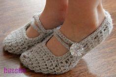 Häkeln Mary-Janes, Ballerinas - I want to make these!