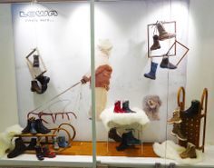 LOWA Salzburg Showroom Design, Window Design, Salzburg, Wardrobe Rack, Shoe Rack, Furniture, Home Decor, Room Decor, Shoe Cupboard
