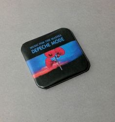 "Depeche Mode Music For The Masses 1.5"" Backpack Pin 80's Music"