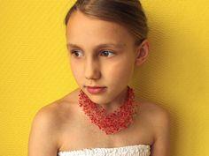 Ketten - Rote Halskette für Mädchen - ein Designerstück von SalixCinerea bei DaWanda
