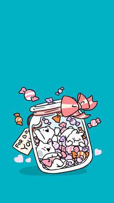 Cocoppa Wallpaper, Cute Anime Wallpaper, Cute Wallpaper Backgrounds, Cute Cartoon Wallpapers, Kawaii Illustration, Pusheen Cat, Cute Kawaii Drawings, Cute Art, Cute Pictures