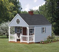 Playhouses :: Backyard Cabin :: Backyard to - Amish Backyard Structures Outside Playhouse, Backyard Playhouse, Build A Playhouse, Br House, Tiny House, Shed Plans, House Plans, Playhouses For Sale, Backyard Cabin