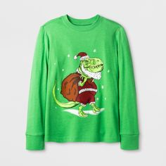 Boys' Graphic Long Sleeve - Cat & Jack Green S